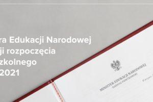 List Ministra Edukacji Narodowej na Rozpoczęcie Roku Szkolnego 2020/2021